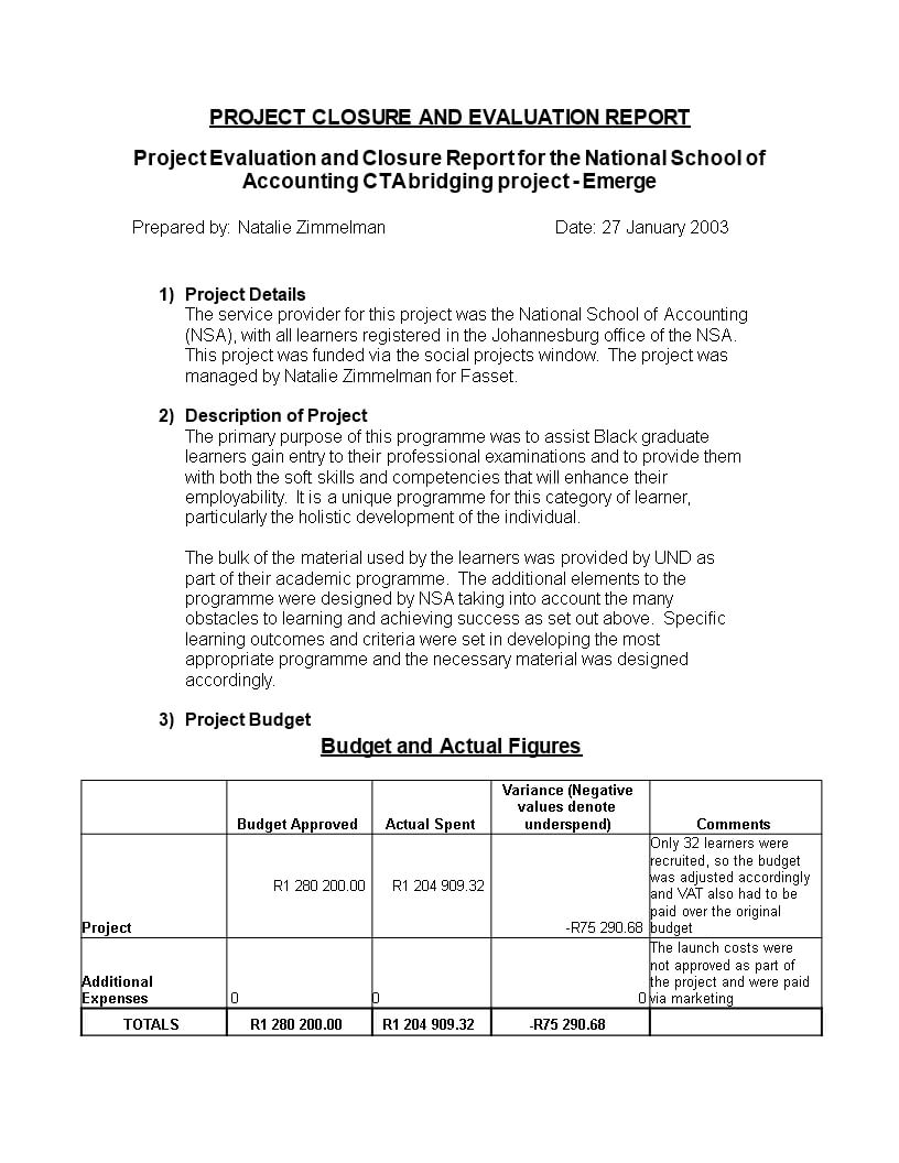 Standard Evaluation Report | Templates At Regarding Template For Evaluation Report