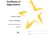 Star Award Certificate Templates Free Image pertaining to Star Certificate Templates Free