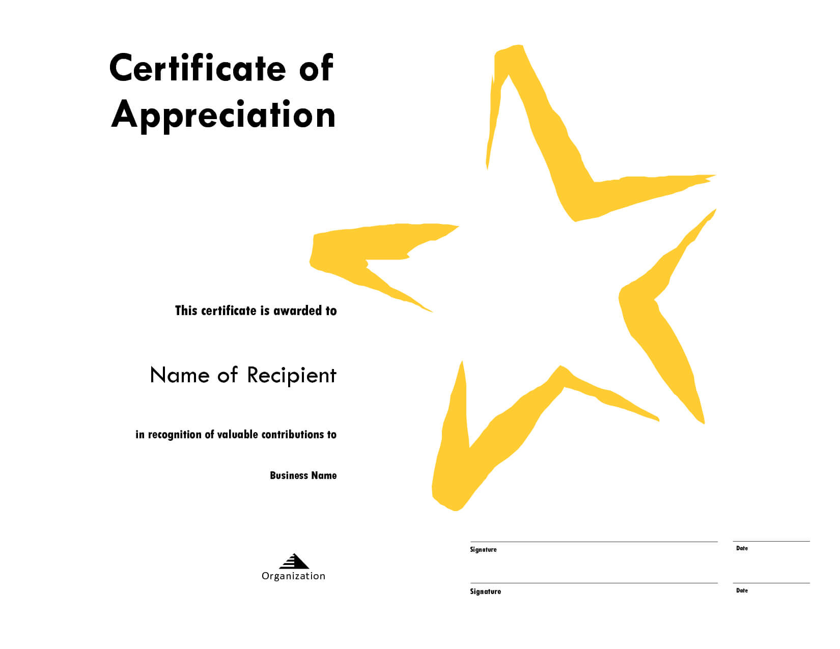 Star Award Certificate Templates Free Image Pertaining To Star Certificate Templates Free