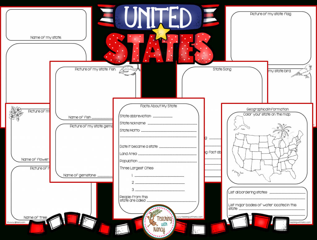 State Report Research Project Made Easy! | Teaching With Nancy Pertaining To State Report Template