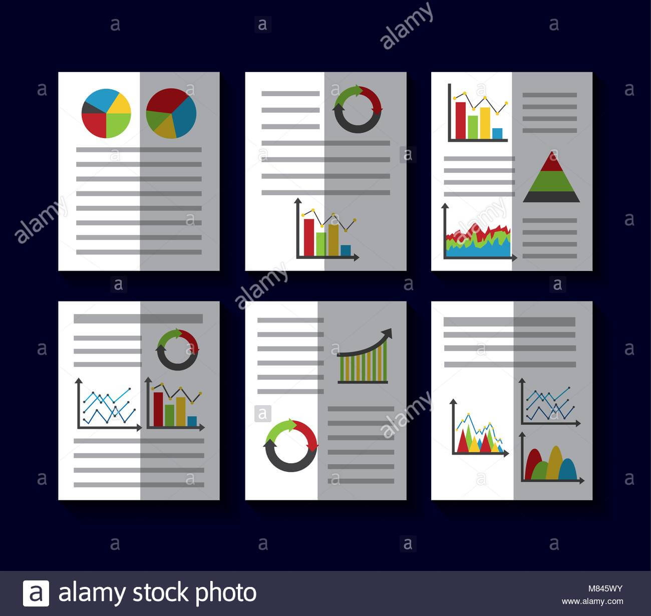 Statistics Data Business Report Template Style Charts And With Illustrator Report Templates
