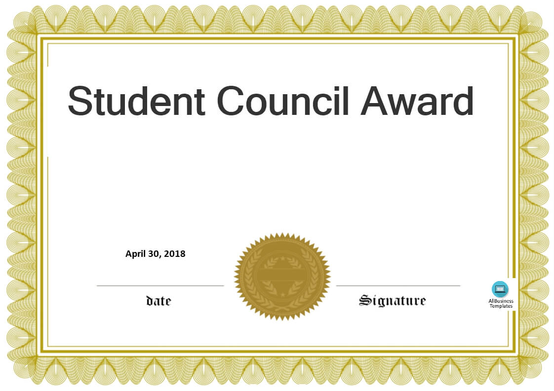Student Council Certificate Templates - Zohre Pertaining To Hayes Certificate Templates