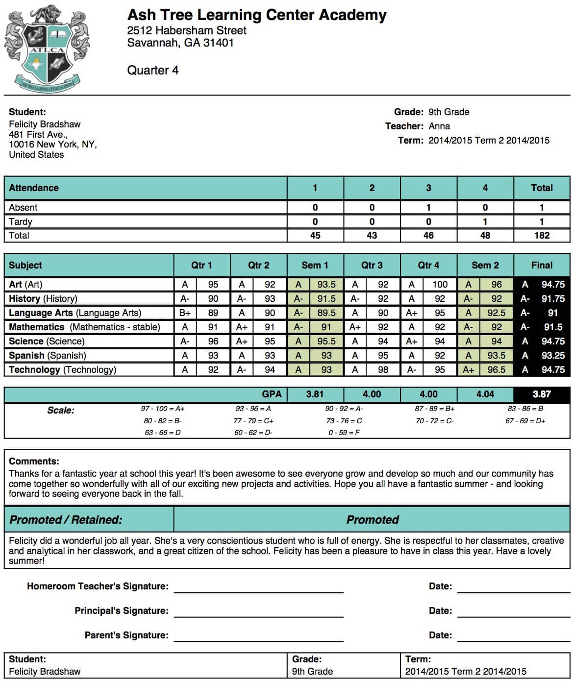 Student Report Card Format - Yatay.horizonconsulting.co With Middle School Report Card Template