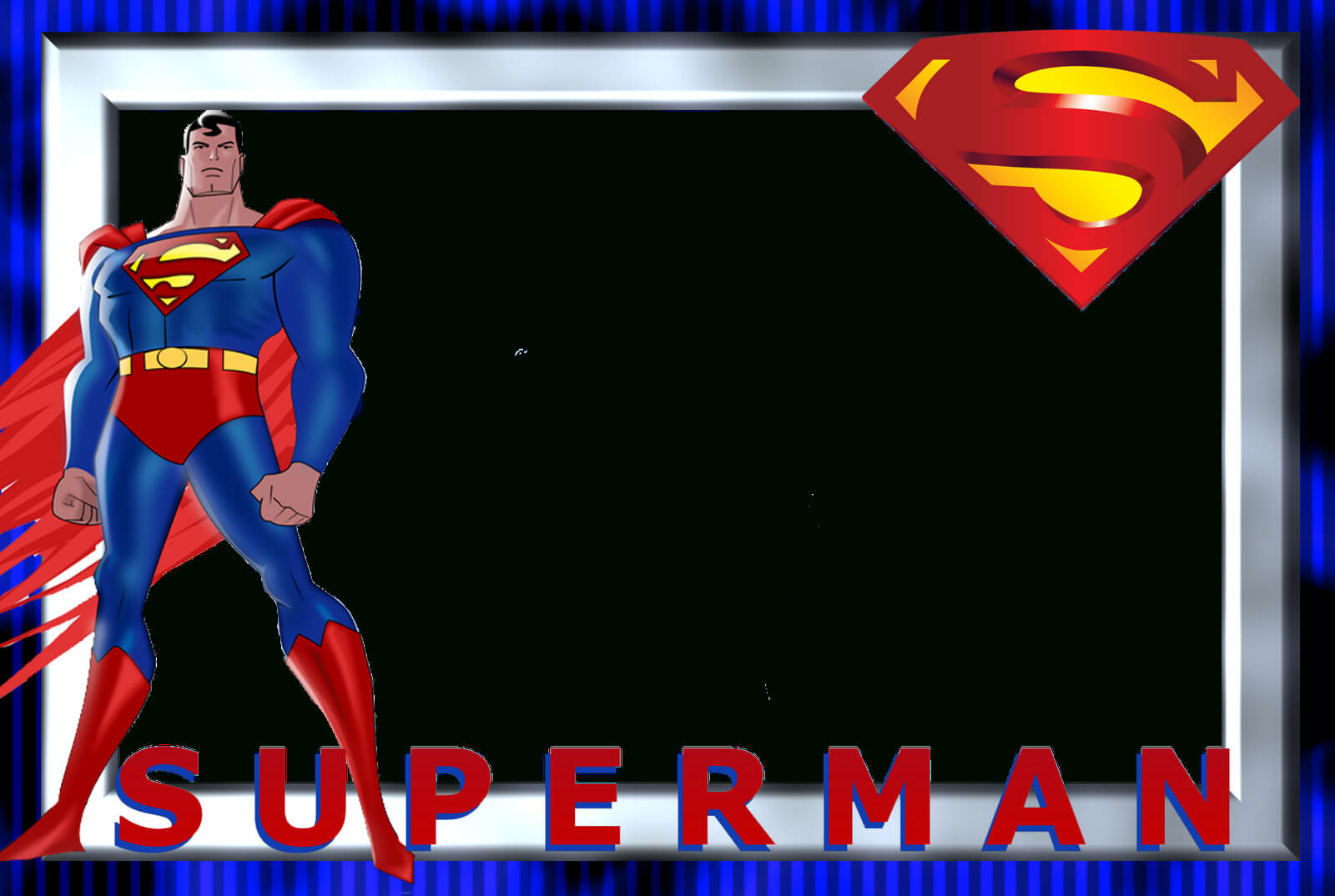 Superman Birthday Card Template ] - Superhero Party Throughout Superman Birthday Card Template