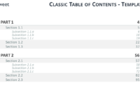 Table Of Content Templates For Powerpoint And Keynote pertaining to Microsoft Word Table Of Contents Template