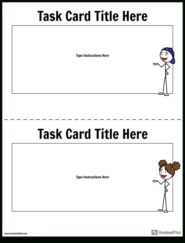 Task Card Template | Task Card Maker Regarding Task Cards Template