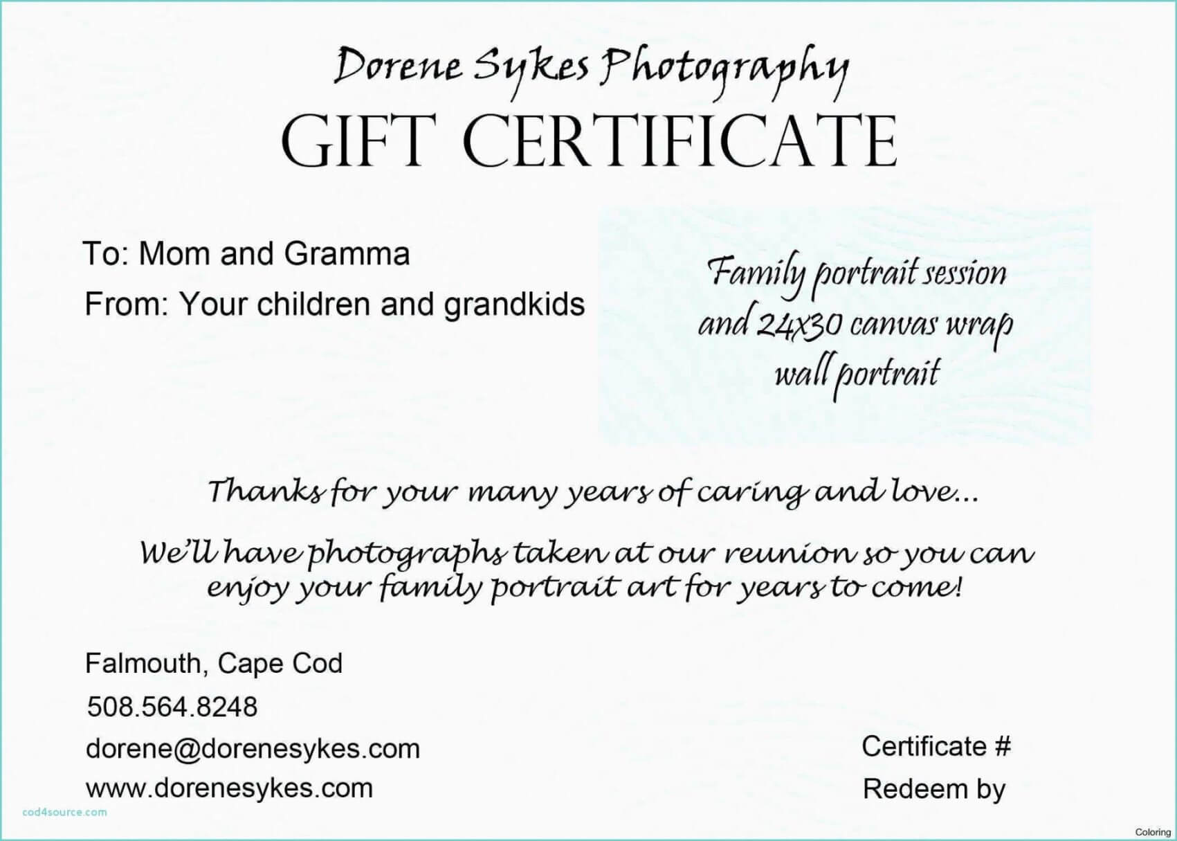 Tattoo Gift Certificate Template For Tattoo Gift Certificate Template