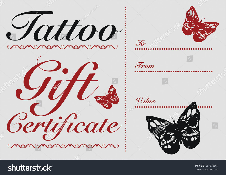Tattoo Gift Certificate Template Free Throughout Tattoo Gift Certificate Template