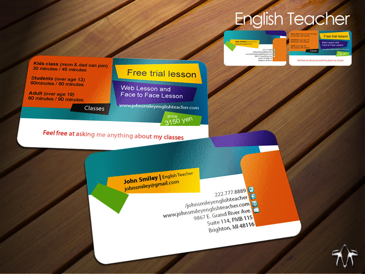 Teacher Business Cards Free Templates - Www Intended For Business Cards For Teachers Templates Free