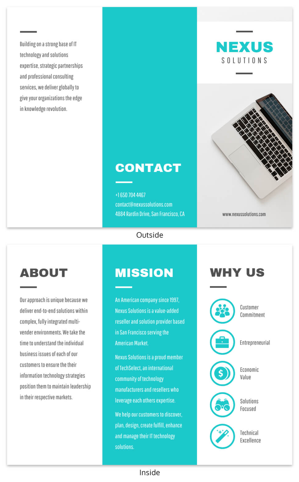 Technology Tri Fold Brochure Template Throughout Technical Brochure Template