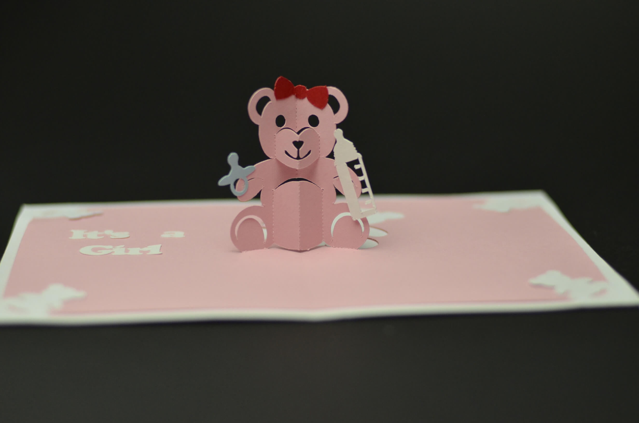Teddy Bear Pop Up Card: Tutorial And Template - Creative Pop With Teddy Bear Pop Up Card Template Free