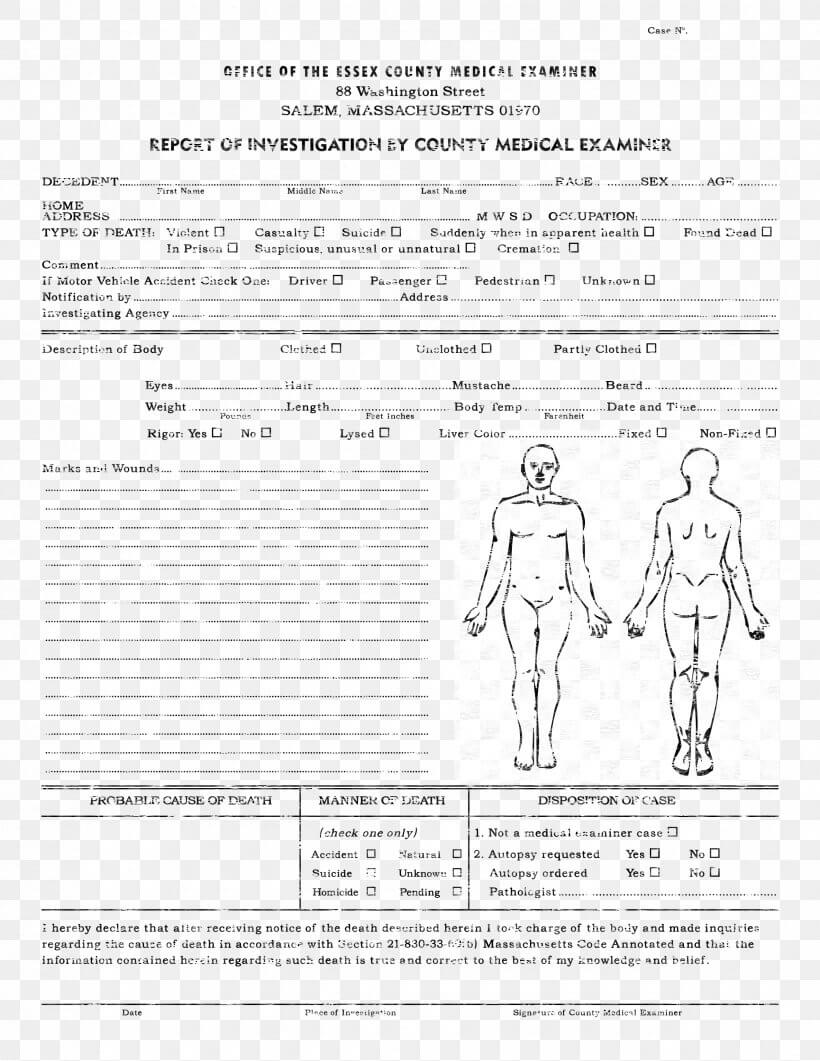 Template Autopsy Microsoft Word Report Résumé, Png Within Coroner's Report Template