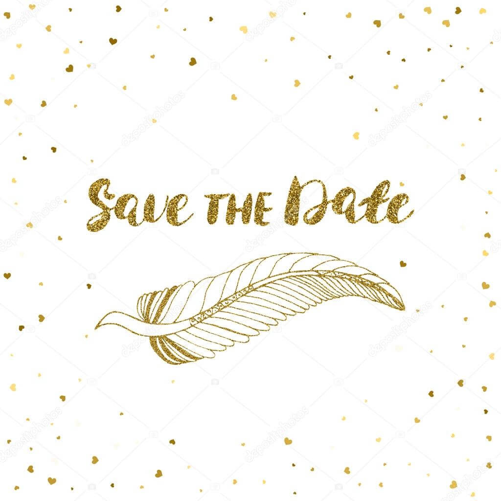Template For Card, Banner, Flyer, Save The Date Invitation Regarding Save The Date Banner Template