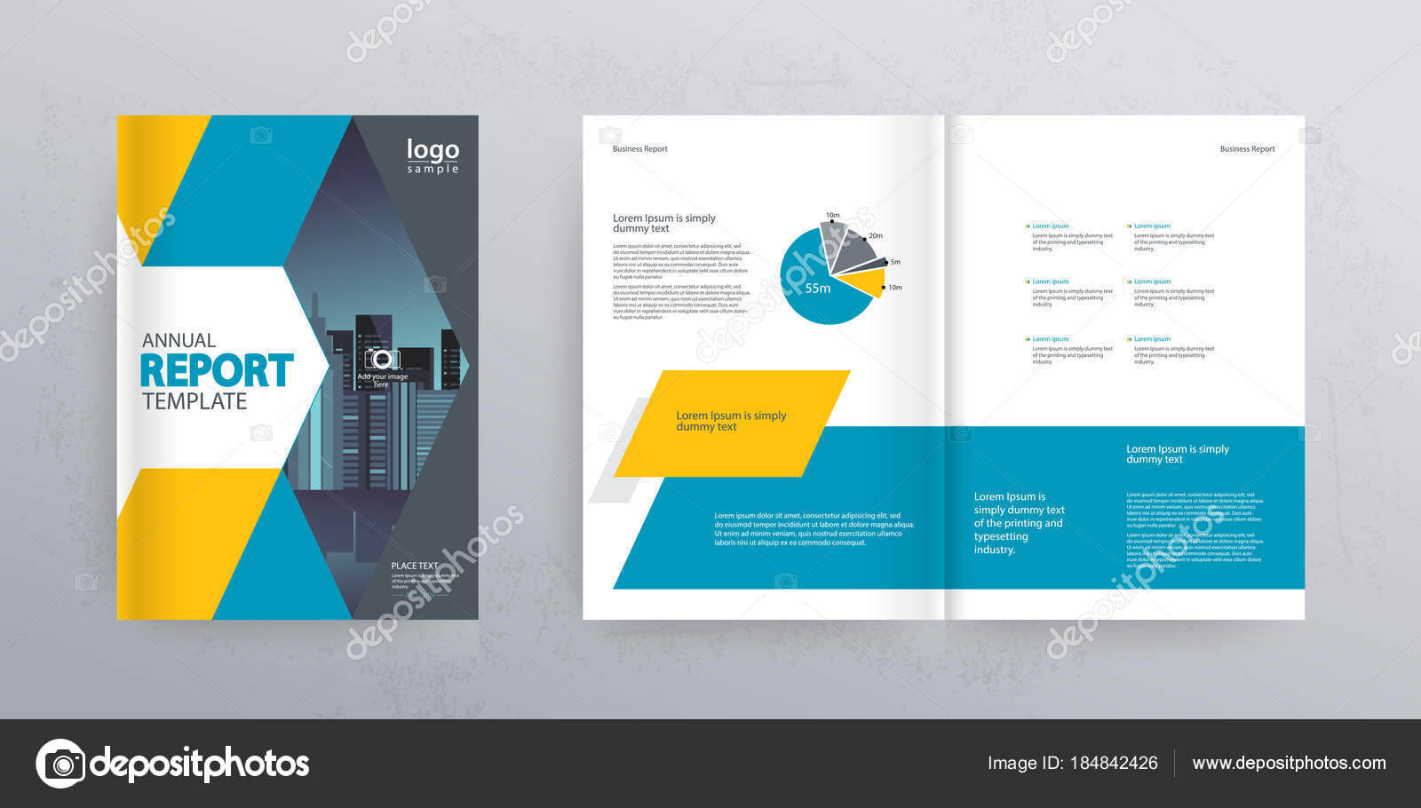 Template Layout Design Cover Page Company Profile Annual Throughout Cover Page For Annual Report Template