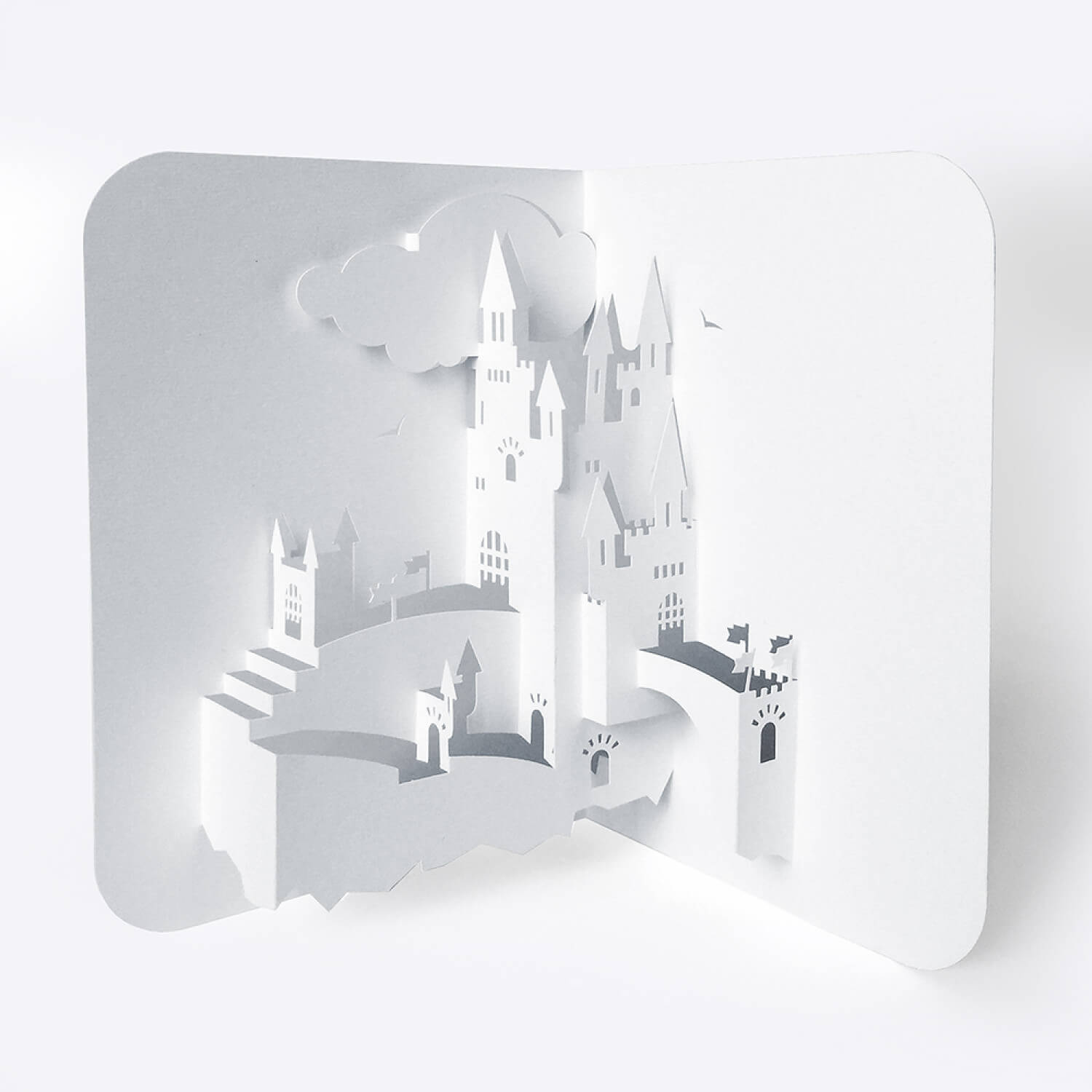 Template Pop Up Card «Castle» In Free Printable Pop Up Card Templates