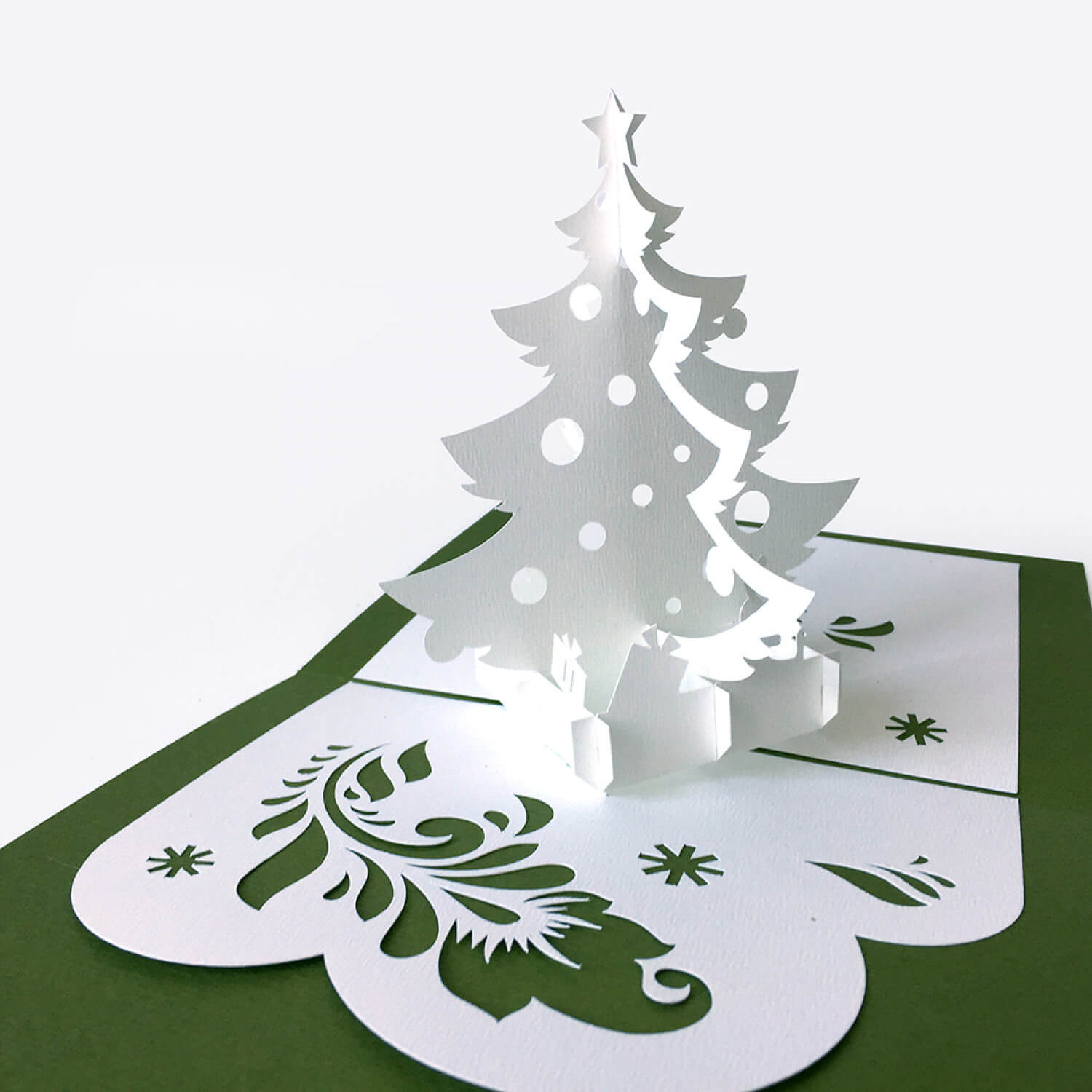Template Pop Up Card «Christmas Tree» Inside 3D Christmas Tree Card Template
