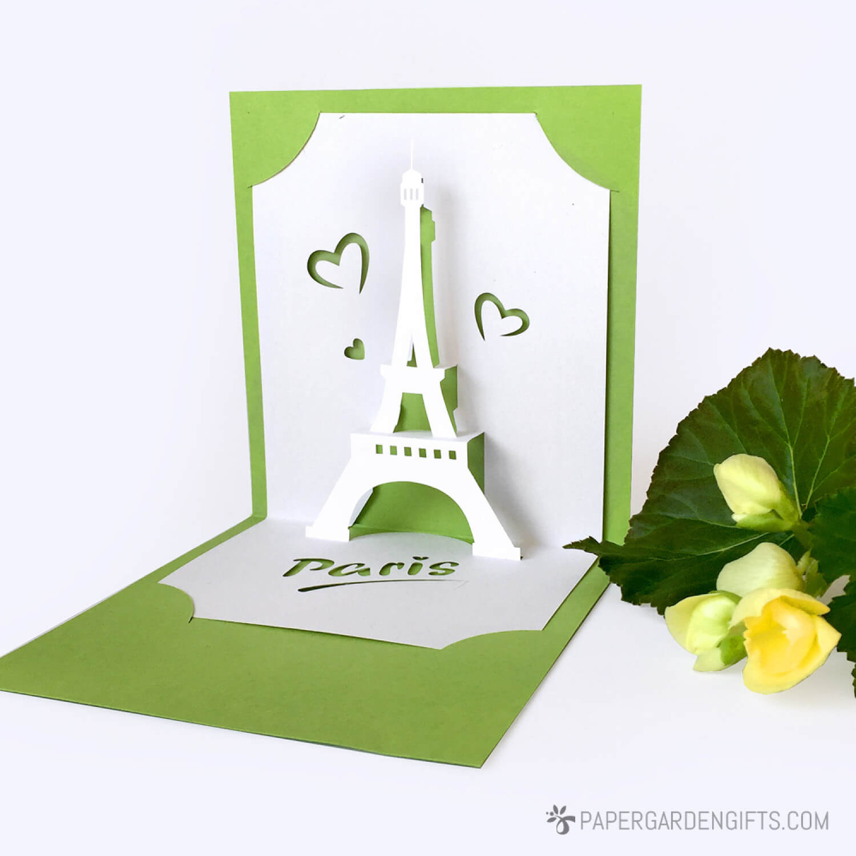 Template Pop Up Card «Love In Paris» Inside I Love You Pop Up Card Template