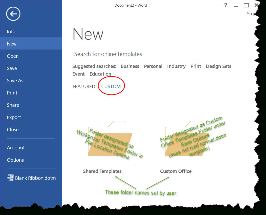 Templates In Microsoft Word - One Of The Tutorials In The In Word 2010 Template Location