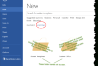 Templates In Microsoft Word - One Of The Tutorials In The throughout How To Create A Template In Word 2013
