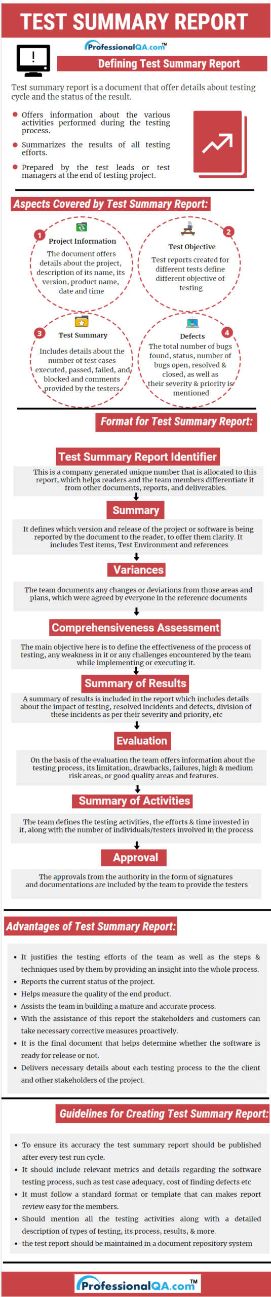 Test Summary Report |Professionalqa With Test Summary Report Template