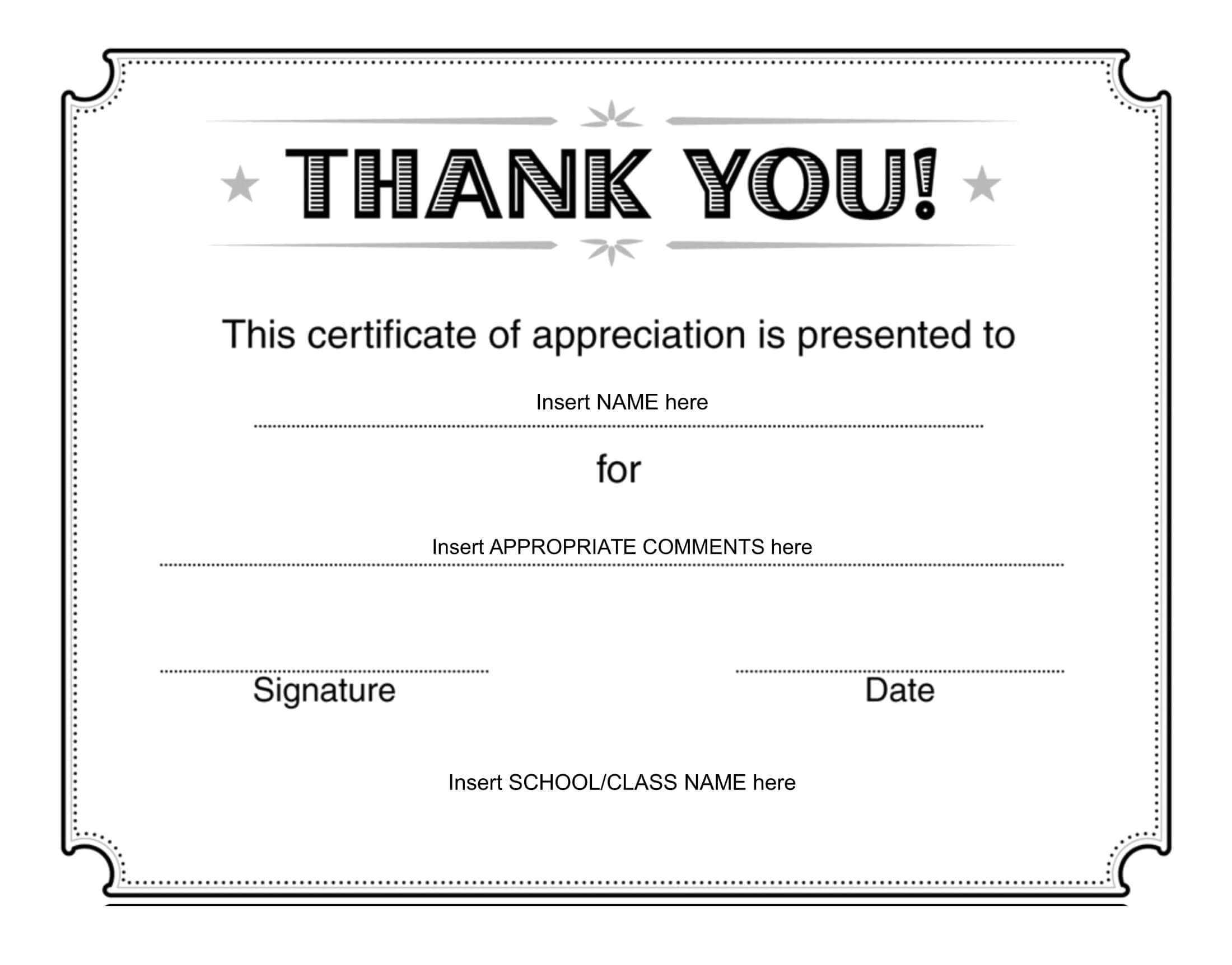 Thank You Certificate - Download Free Template In Farewell Certificate Template