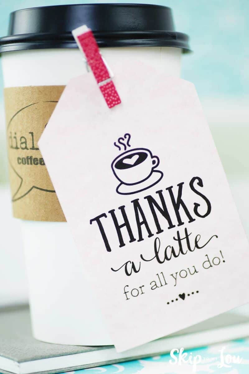Thanks A Latte! Free Printable Gift Tags   Skip To My Lou Within Thanks A Latte Card Template