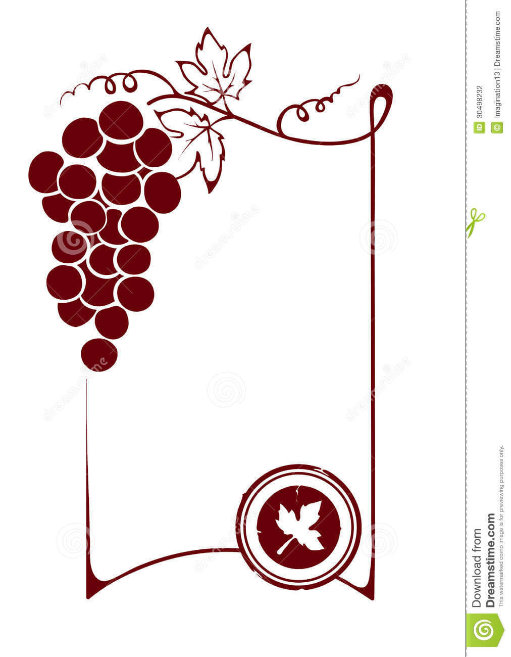 The Blank Wine Label Stock Vector. Illustration Of Decor Throughout Blank Wine Label Template