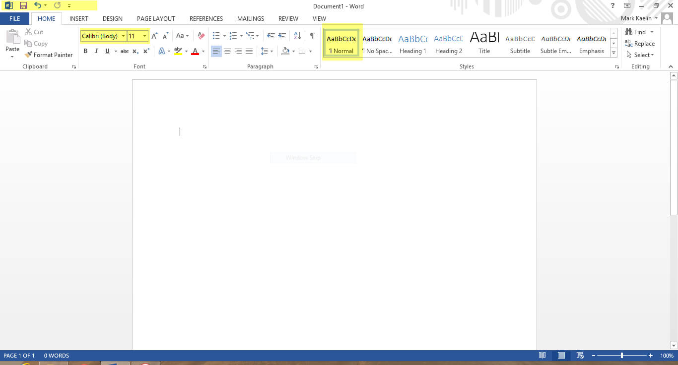 The First Nine Things I Do To Default Settings In Word 2013 In Change The Normal Template In Word 2010