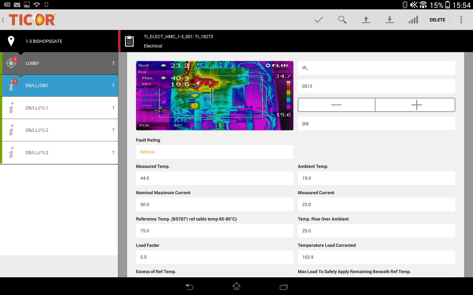 Thermal Imaging Software - Ticor Throughout Thermal Imaging Report Template