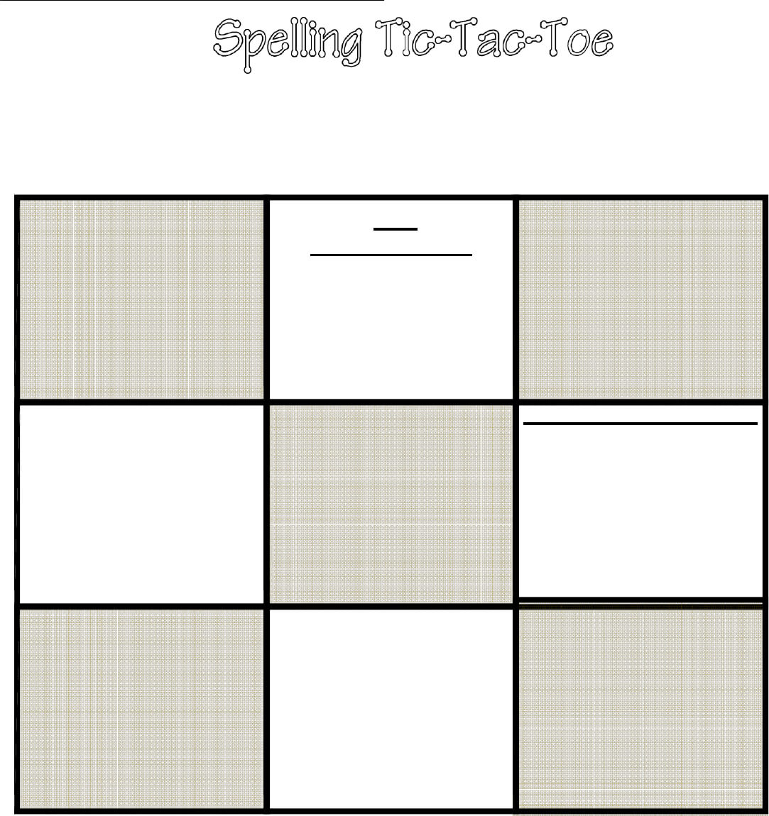 Tic Tac Toe Template In Word And Pdf Formats Throughout Tic Tac Toe Template Word