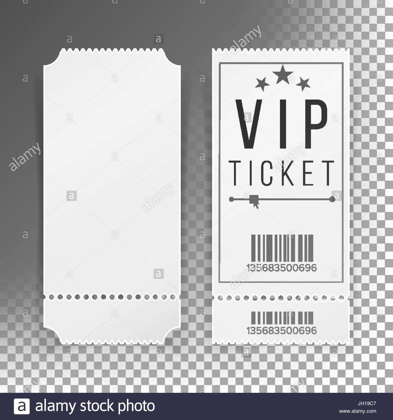 Ticket Template Set Vector. Blank Theater, Cinema, Train Regarding Blank Train Ticket Template