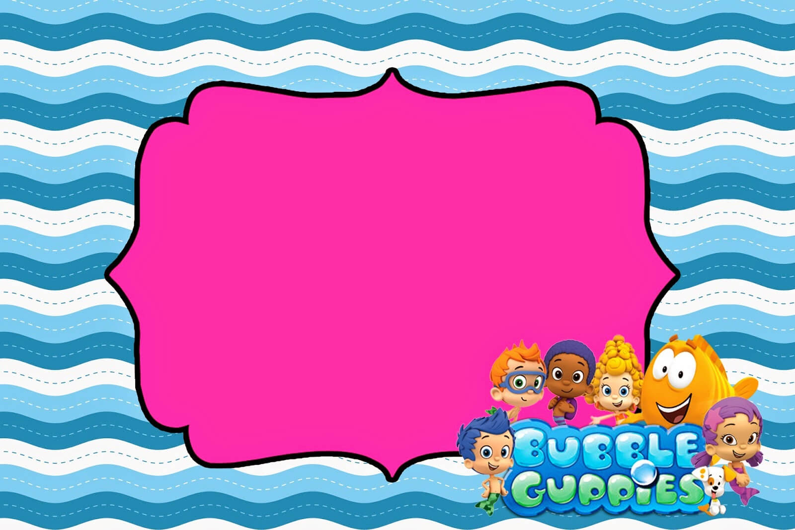 Tips & Ideas: Lovely Bubble Guppies Invitations For Your With Regard To Bubble Guppies Birthday Banner Template