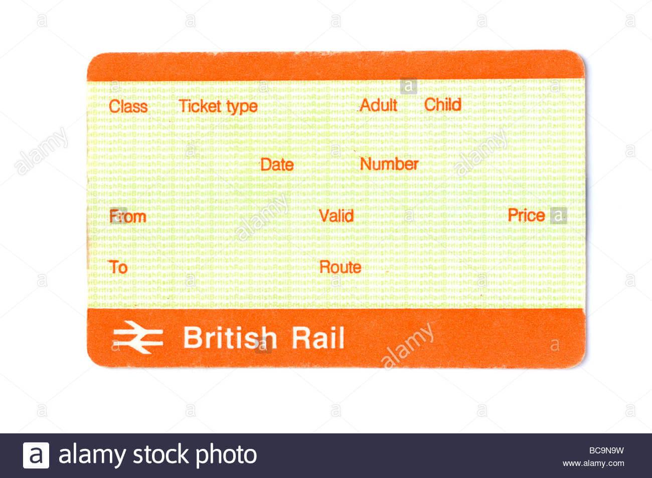 Train Ticket Blank Stock Photos & Train Ticket Blank Stock With Blank Train Ticket Template