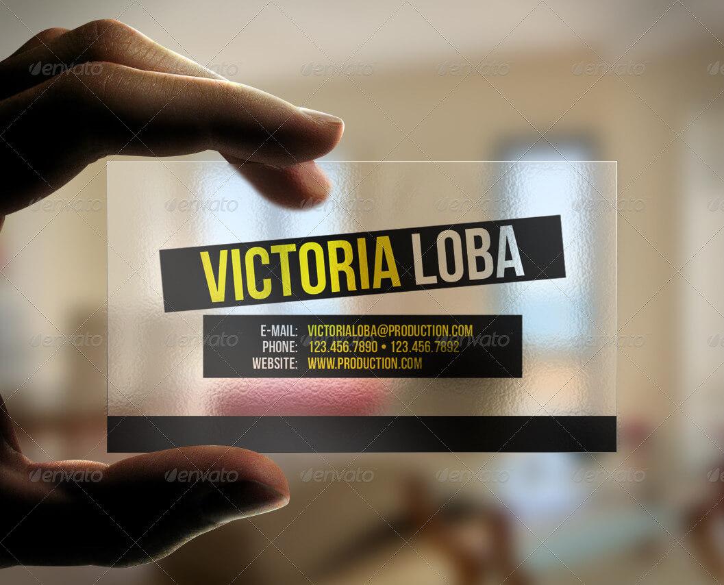 Transparent Business Card Templates & Designs From Graphicriver Inside Transparent Business Cards Template