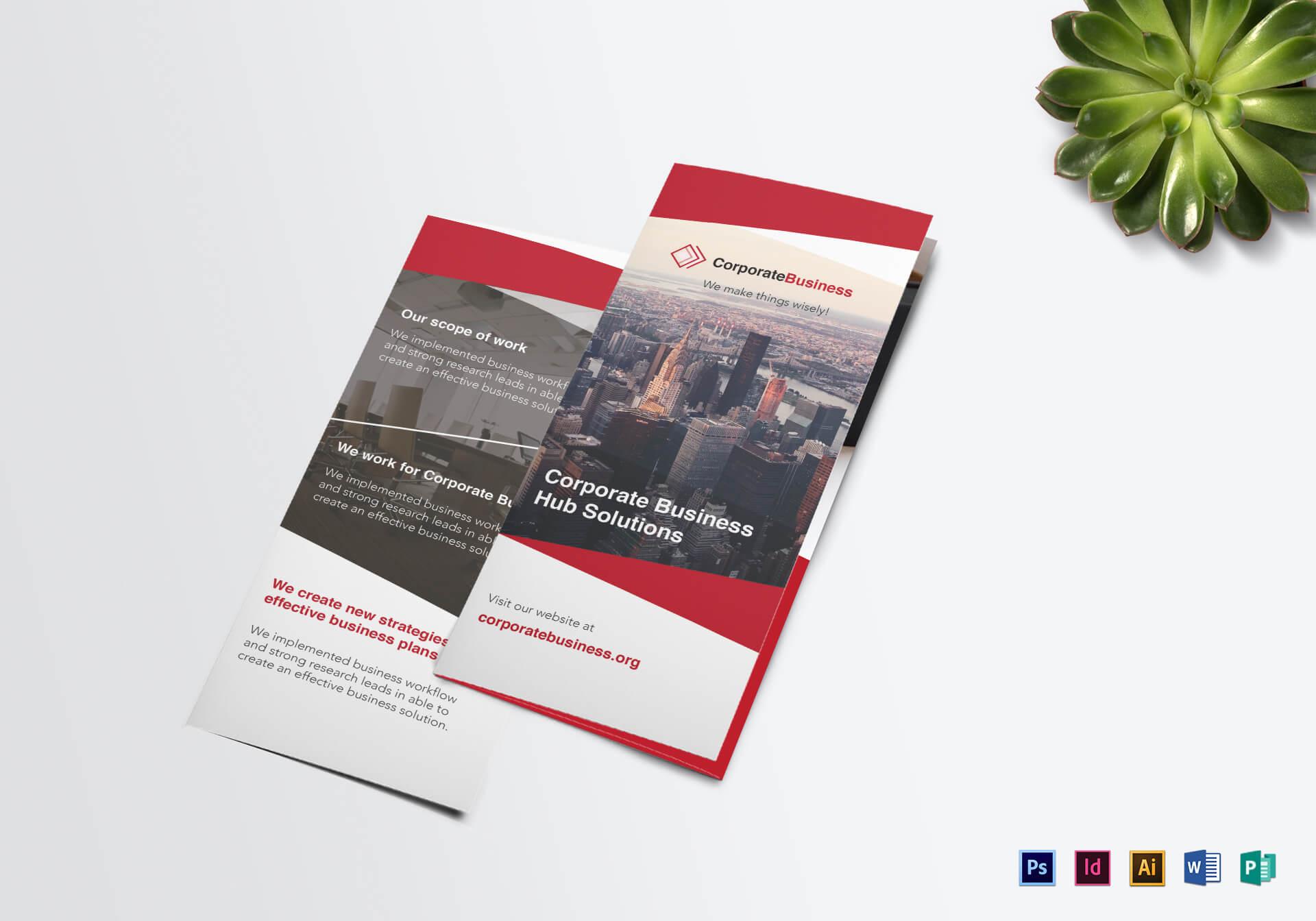 Tri Fold Corporate Business Brochure Template For Tri Fold Brochure Publisher Template