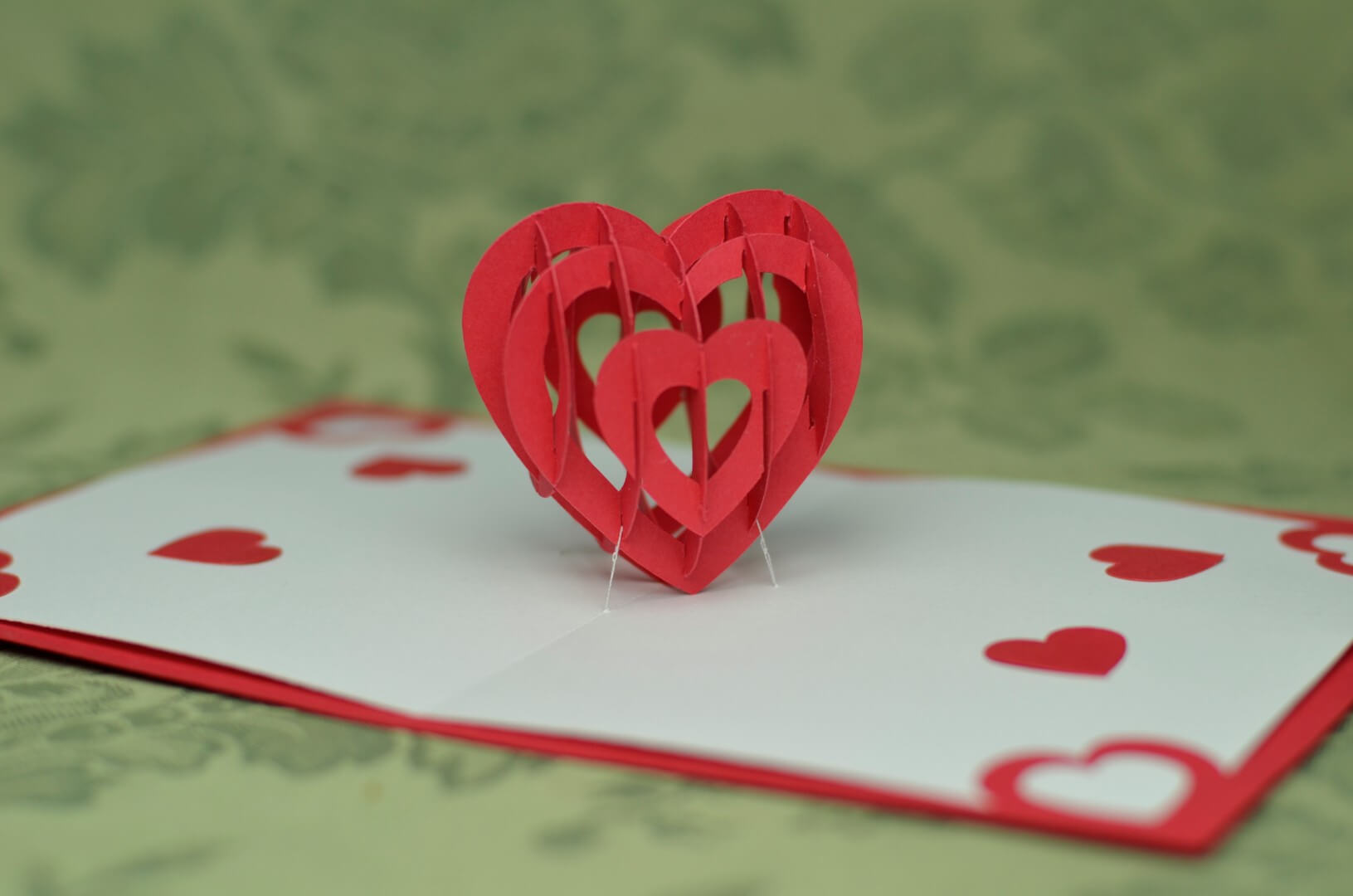 Twisting Hearts Pop Up Card Template - Creative Pop Up Cards For Twisting Hearts Pop Up Card Template