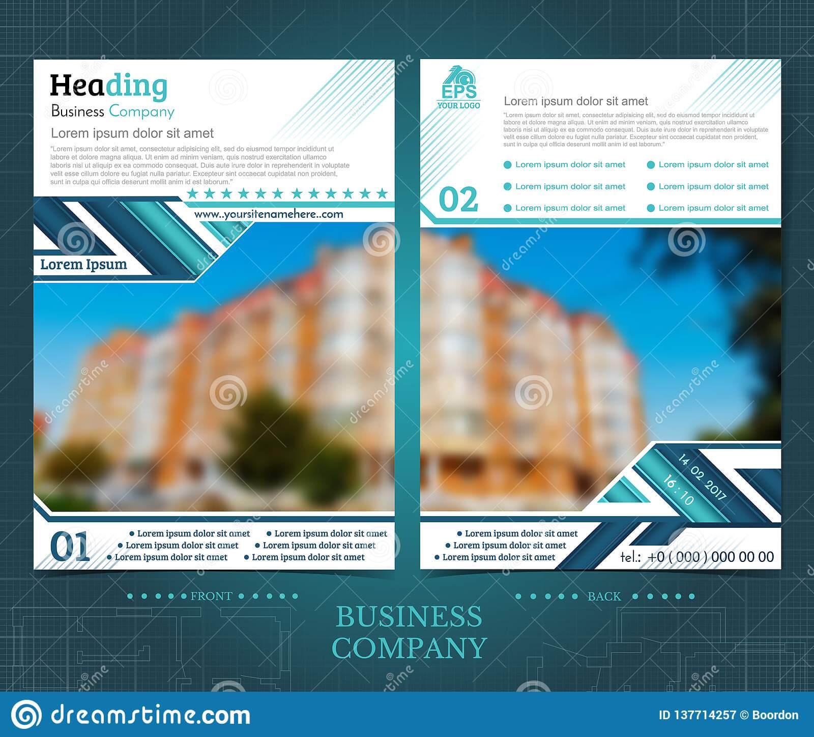 Two Sided Brochure Or Flayer Template Design With One Regarding One Sided Brochure Template