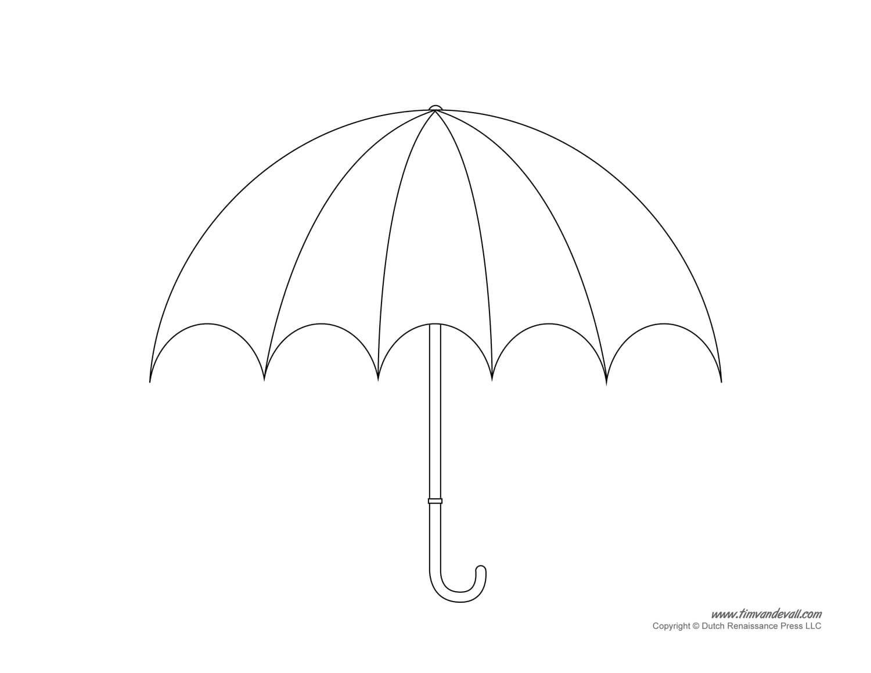 Umbrella Template - Clip Art Library Within Blank Umbrella Template
