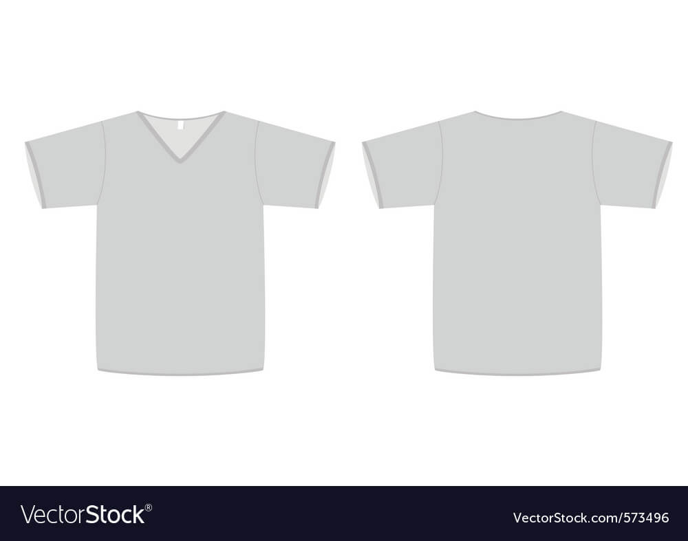 Unisex Vneck Tshirt Template Vector Image Inside Blank V Neck T Shirt Template