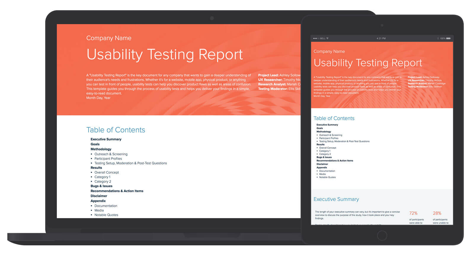 Usability Testing Report Template And Examples   Xtensio Regarding Ux Report Template