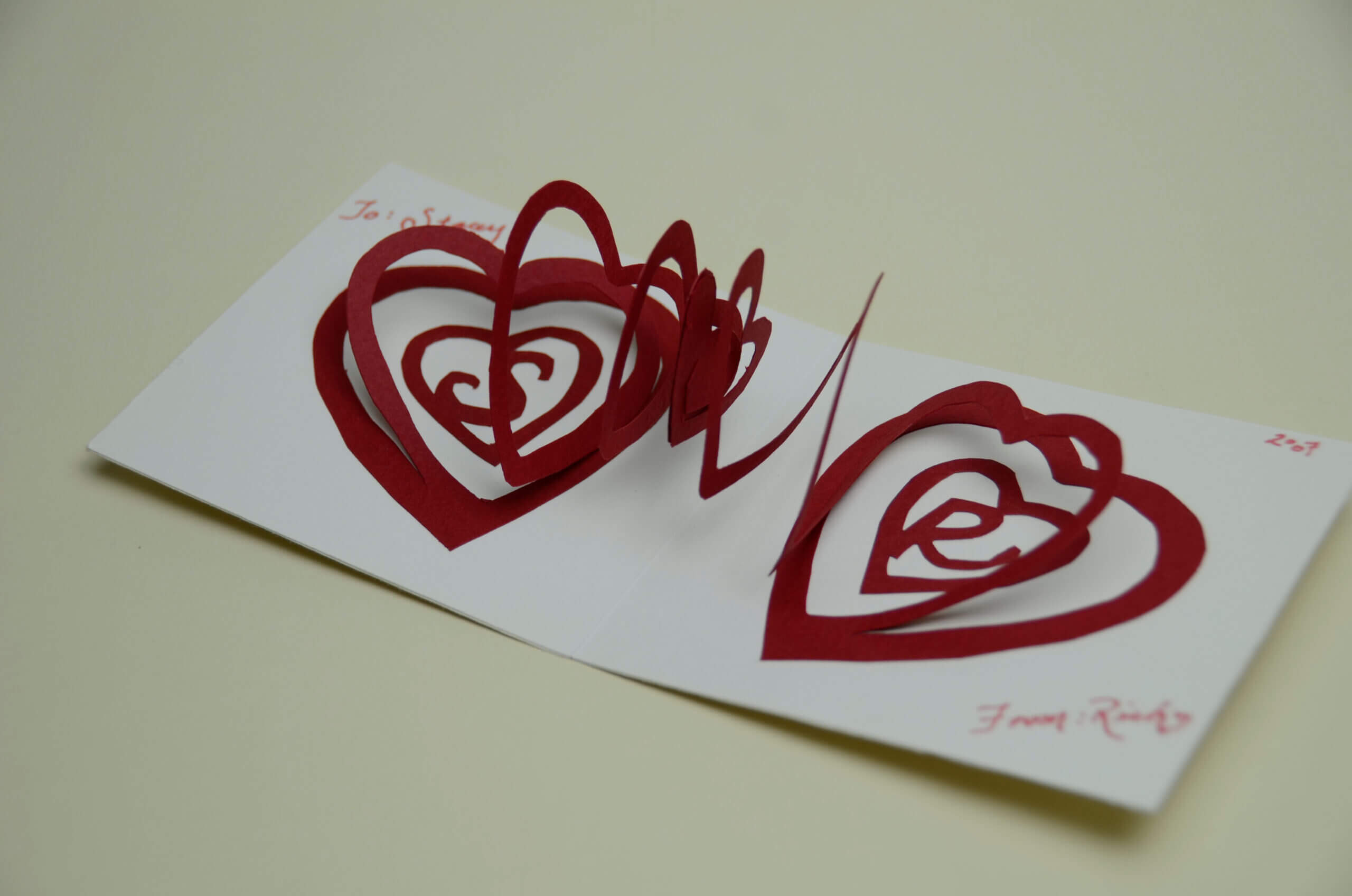 Valentine's Day Pop Up Card: Spiral Heart Tutorial Inside Heart Pop Up Card Template Free