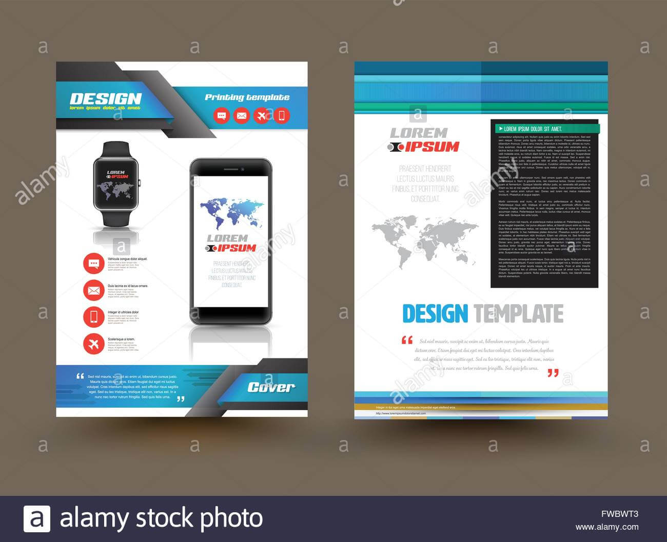 Vector Brochure Template Design For Technology Product For Technical Brochure Template