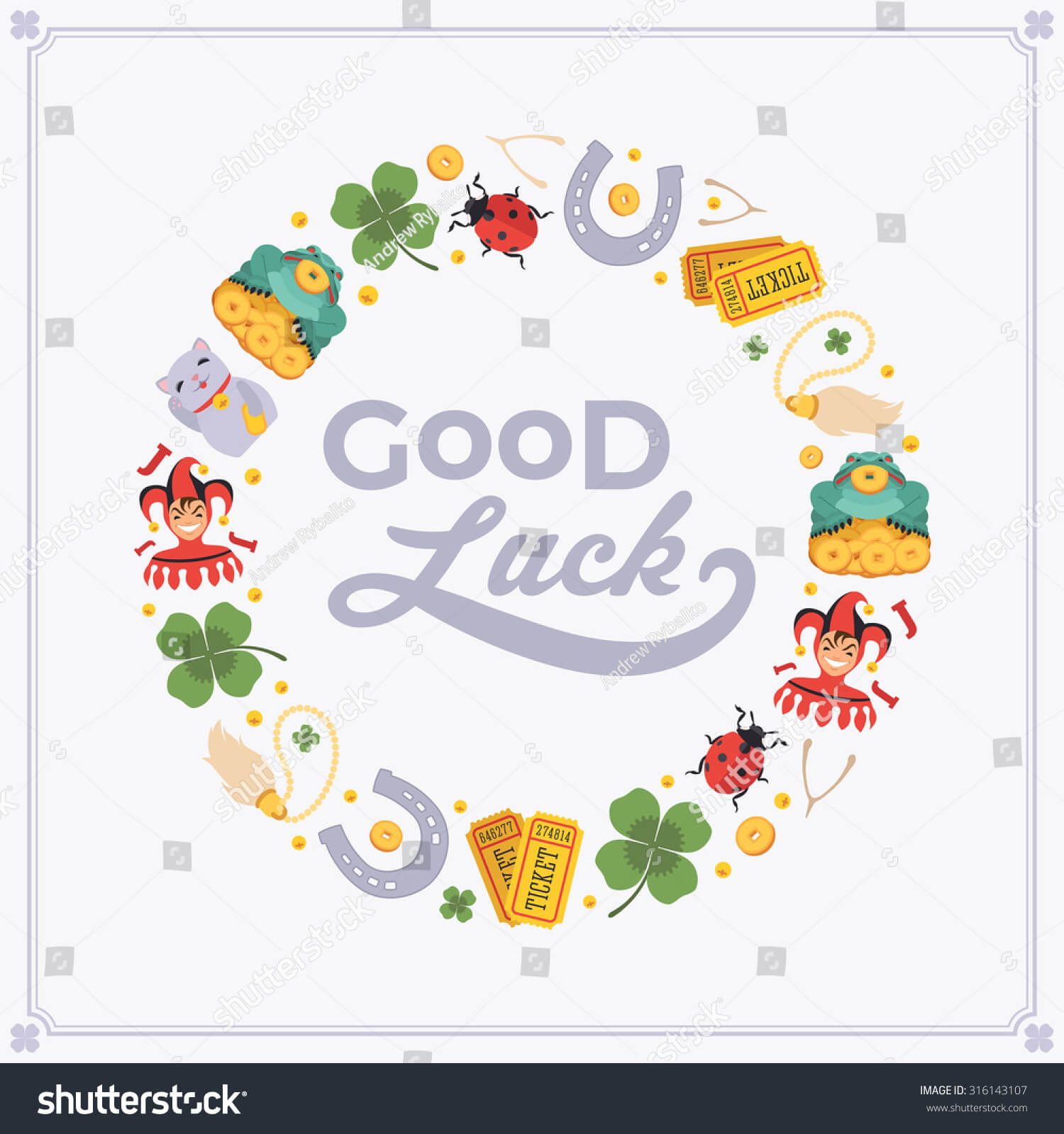 Vector Decorating Design Made Lucky Charms Stock Vector In Good Luck Card Templates