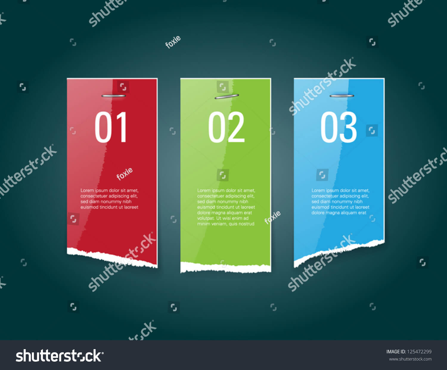 Vector Torn Glossy Paper Banners Staples Stock Vector In Staples Banner Template