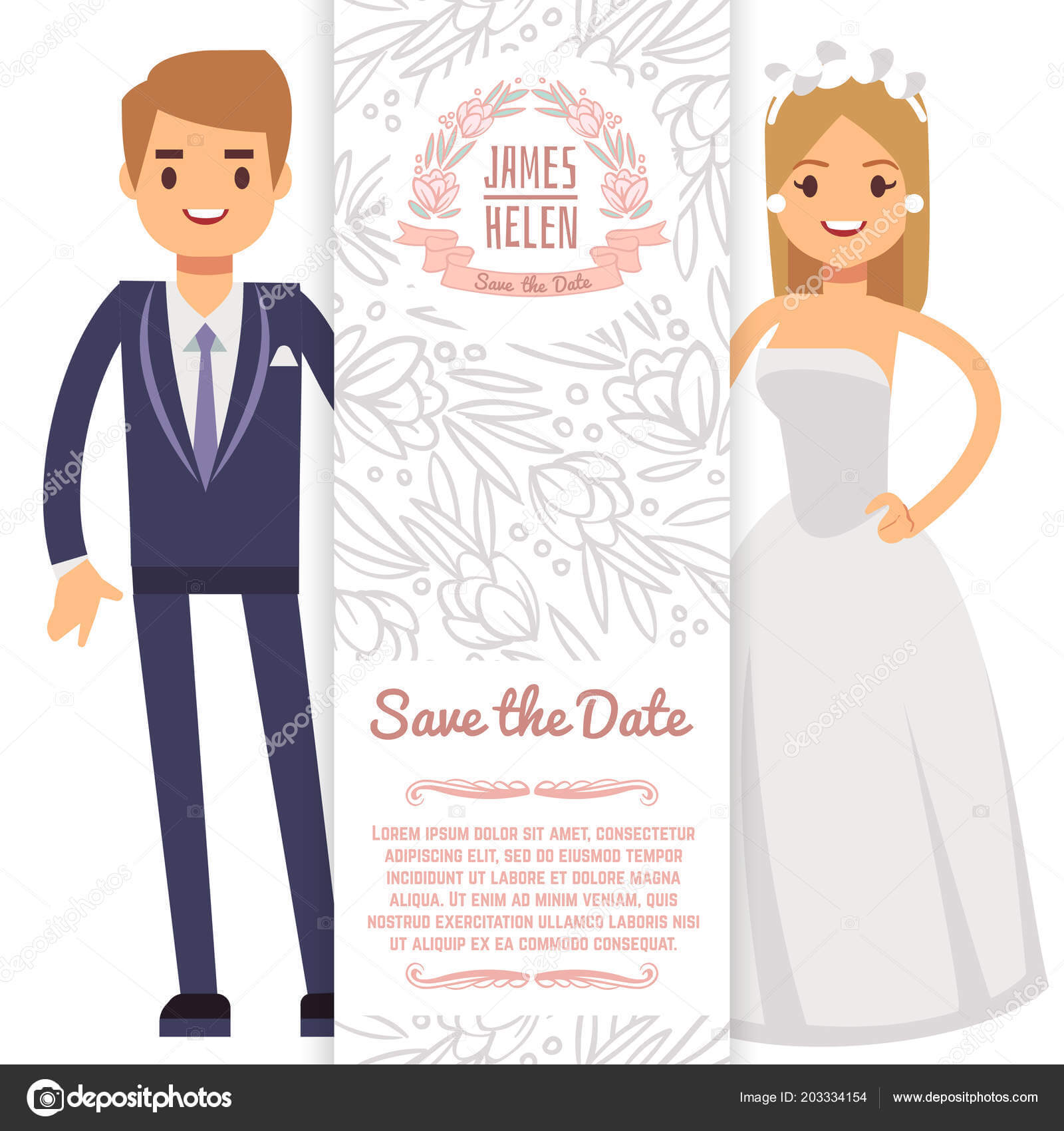 Vector Wedding Banner Template. Decorative Flyer With Bride Pertaining To Bride To Be Banner Template