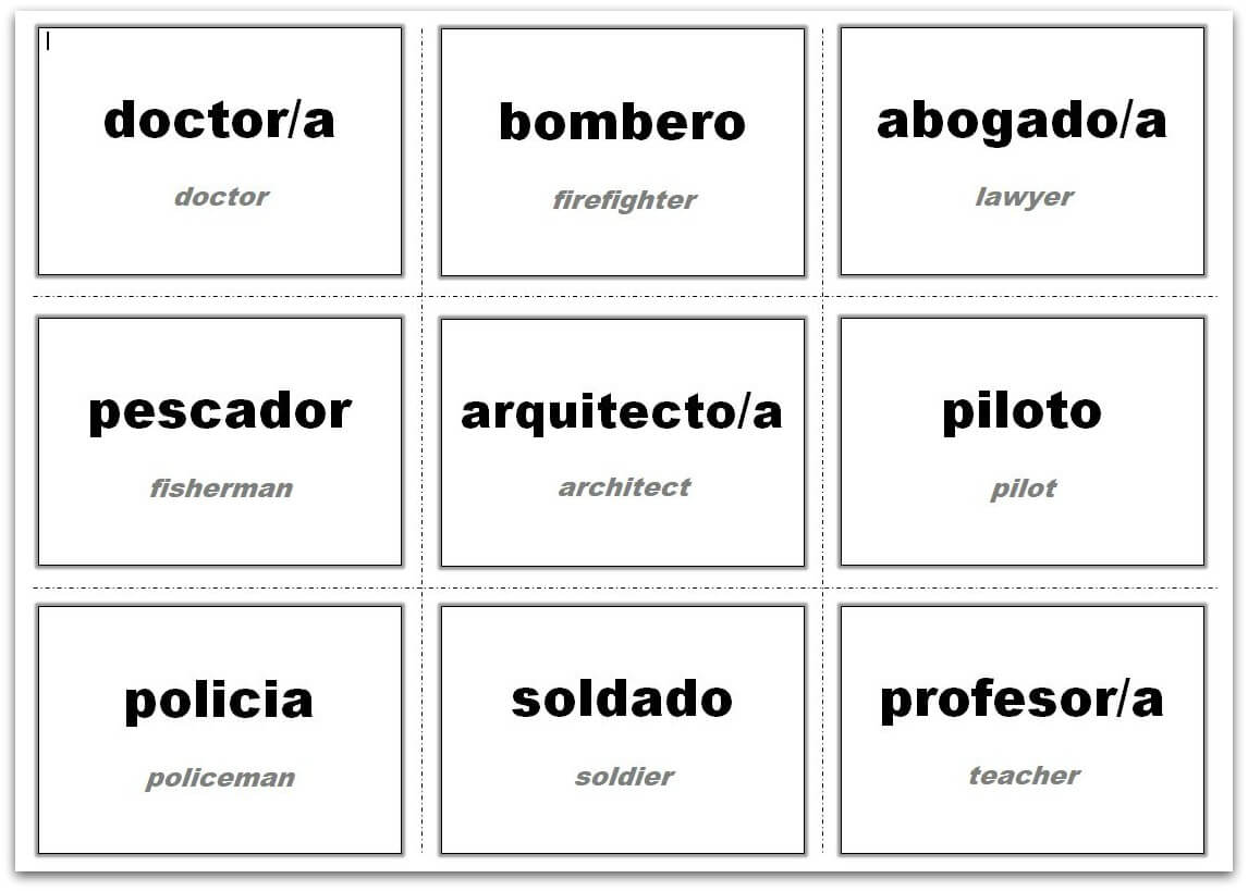 Vocabulary Flash Cards Using Ms Word With Regard To Word Cue Card Template