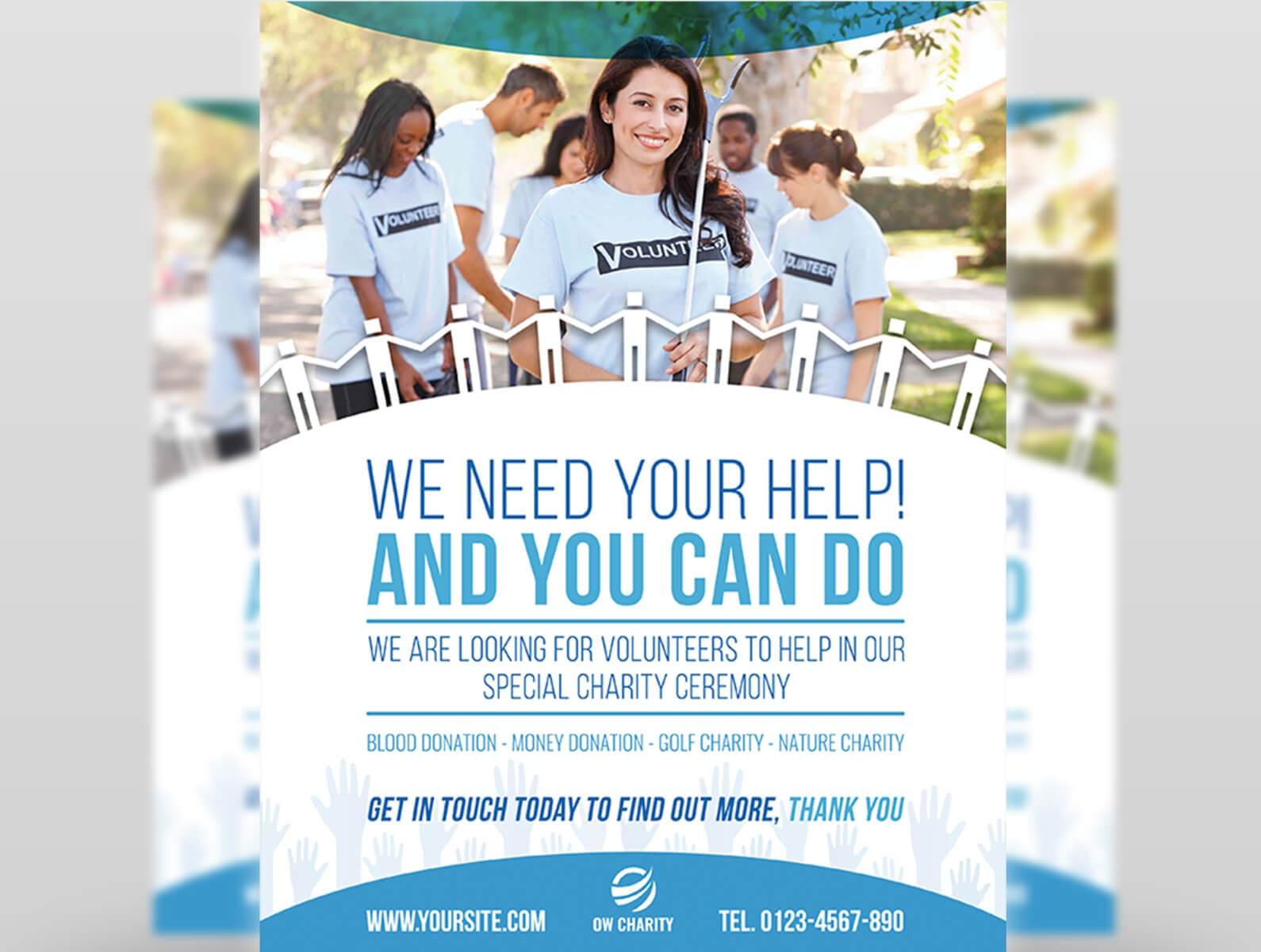 Volunteer Flyer Templateowpictures On Dribbble With Regard To Volunteer Brochure Template