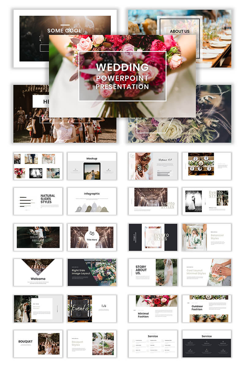 Wedding Album Ppt Templates | Templatemonster Intended For Powerpoint Photo Album Template