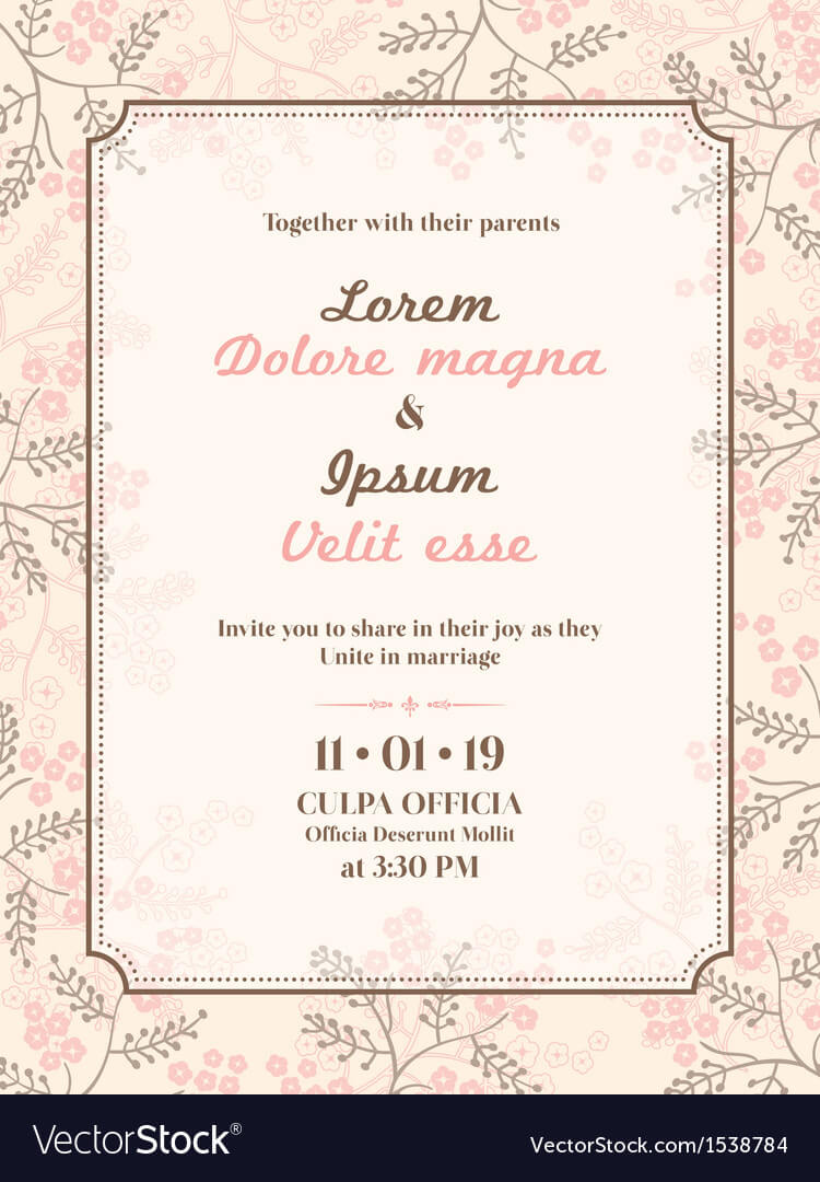 Wedding Invitation Card Template In Invitation Cards Templates For Marriage