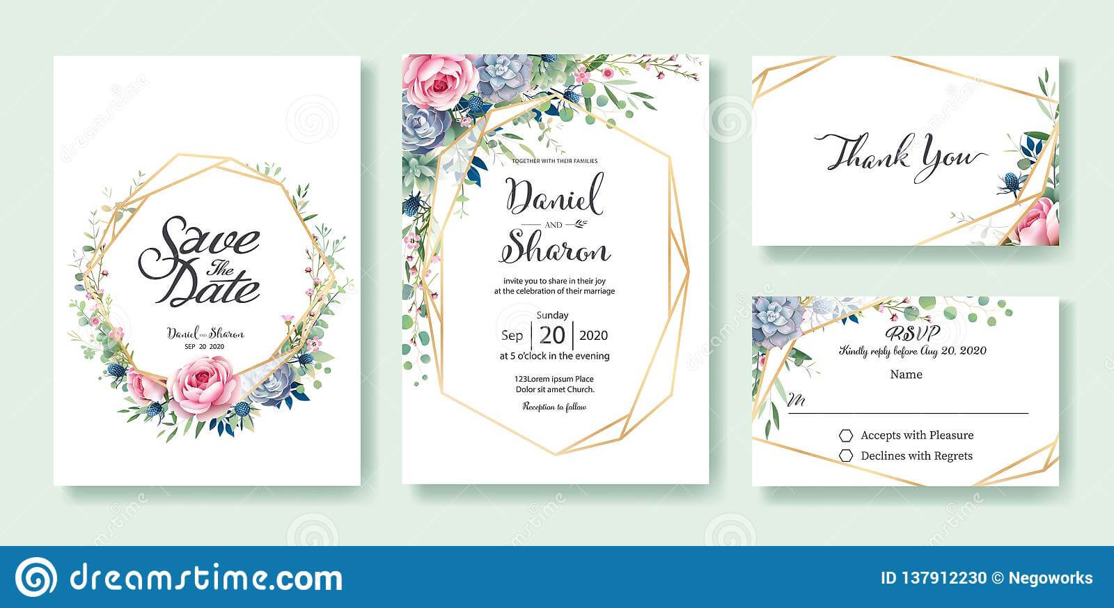 Wedding Invitation, Save The Date, Thank You, Rsvp Card In Free Printable Wedding Rsvp Card Templates